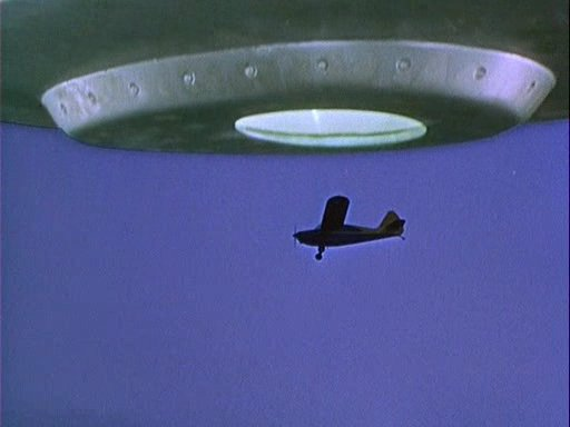 Image of the Stinson 108-1 after leaving the flying saucer